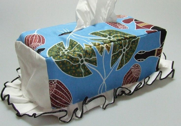 Tissue Box Cover Design: Freshwater Turtles Artist: Kathy Bobongie - Daly River NT Code: HOME-TBC-FWT Price: $18.00