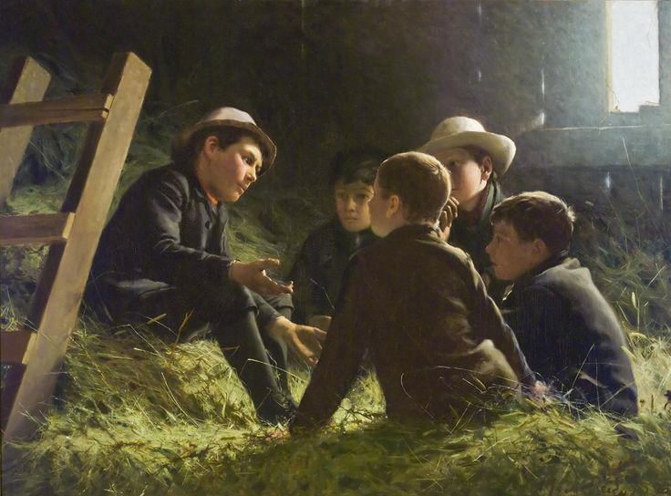 "George Agnew Reid, ""The Story,"" 1890."