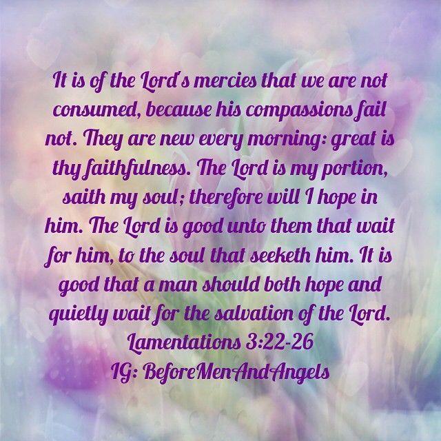 January 2- Lamentations 3:22-26