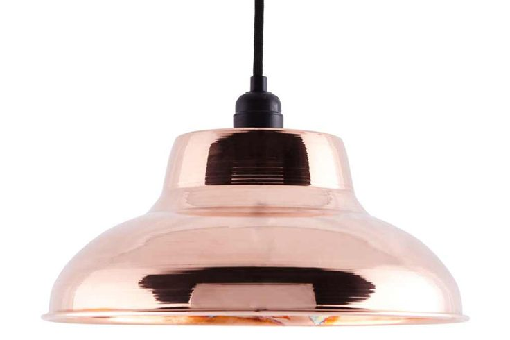 The CU-002 Pendant Light has industrial inspirations, but its highly polished copper finish makes it perfect for a domestic environment.