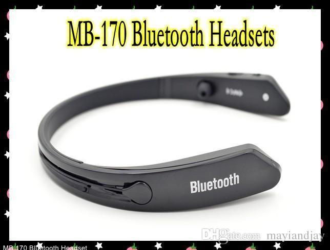 Running Headphones Bluetooth Headsets Mb 170 Mb170 Wireless Neckband Headset In Ear Stereo Headphone For Sport Running For Iphone Samsung Sweatproof Nfc Good Headphones From Mayiandjay, $20.49