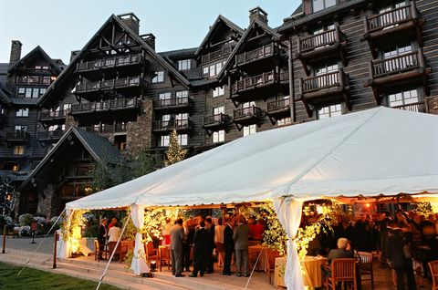 Outdoor Reception Tent At The Ritz Carlton Bachelor Gulch Wedding Featured In Town Country
