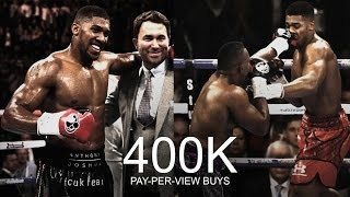 ANTHONY JOSHUA vs DILLIAN WHYTE 400K PPV BUYS 4X GREATER THAN GGG GOLOVKIN VS. DAVID LEMIEUX BUYS