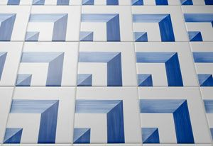 Tiles by Gio Ponti for the Parco dei Principi in Sorrento. Reproduction by Molteni.