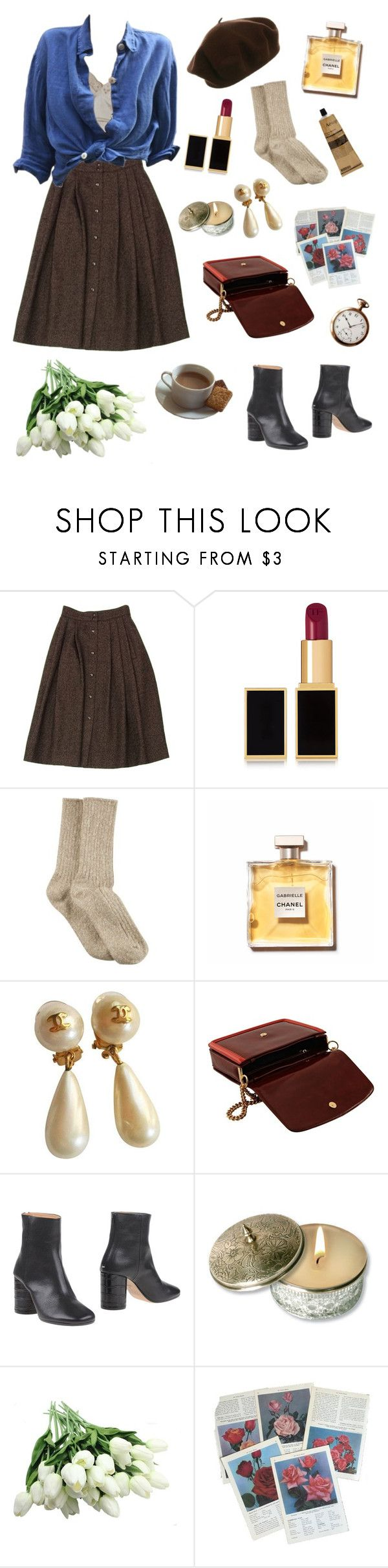 """Untitled #12"" by emotionaldiamond ❤ liked on Polyvore featuring Guy Laroche, Tom Ford, HUE, Chanel, STELLA McCARTNEY, Maison Margiela, CO, Aesop and vintage"