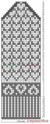 heart mitten pattern