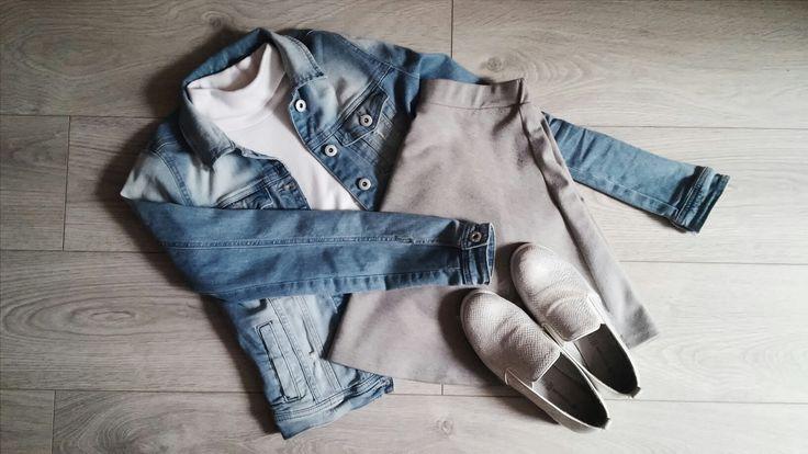 Fall/ school jean outfit! #cute #jean #denim #fall #august #school
