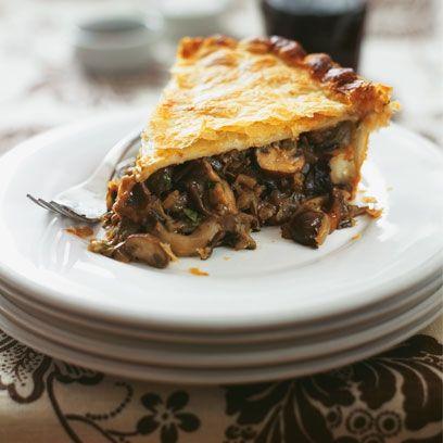 mushroom, wild rice and ale pie