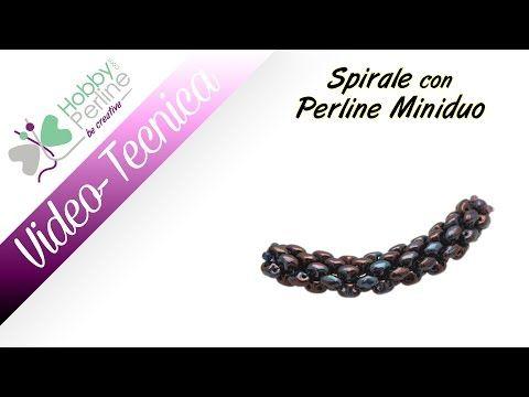 Spirale con Perline Miniduo | TECNICA - HobbyPerline.com - YouTube