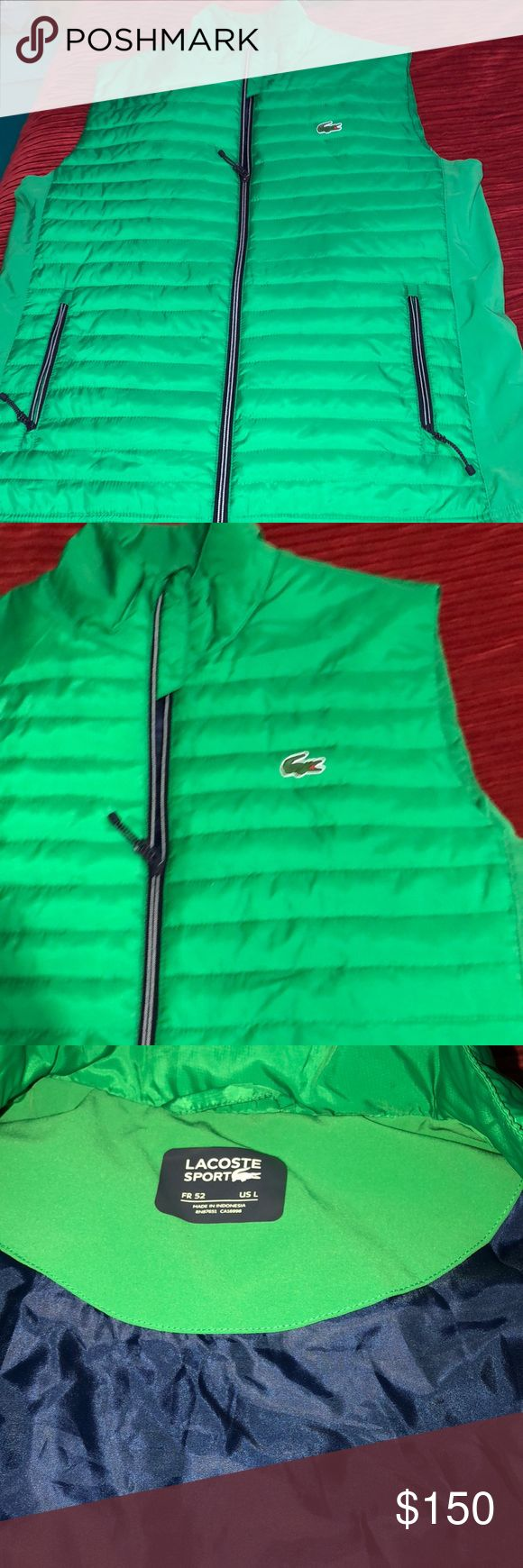 Lacoste   insulated lightweight  Golf Quilted Vest Like new used  once Lacoste Other
