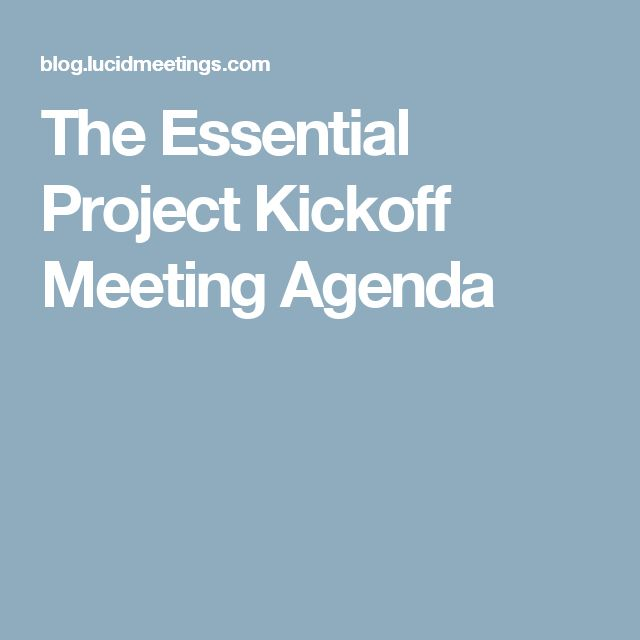project kickoff meeting agenda A great project kickoff meeting can set a positive tone for executing your project use these guidelines and project kickoff meeting agenda for success.