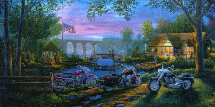 """Pintura de Greg Benson titulada """"American Iron"""". Más en: http://desguaceweb.com"""