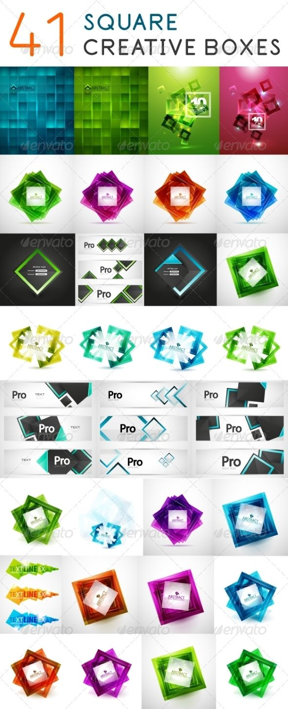 Square Web Boxes Mega Set ...  abstract, background, banner, box, collection, color, concept, data, design, flat, futuristic, geometrical, illustration, infographic, information, layout, mega, modern, presentation, rhombus, set, simple, square, style, template, transparent, ui, vector, web, white