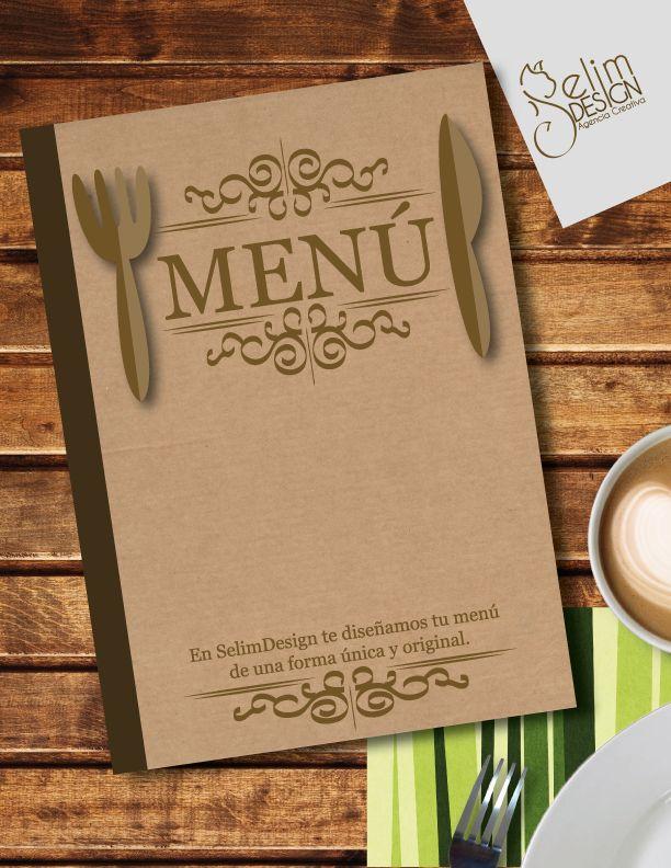 Te diseñamos tu menú de una forma original!  #menu #restaurante #diseño #diseñografico #design #graficdesign #ideas #creatividad #comida #agenciacreativa #selimdesign #editorial #original #craft #font #tipografia #typography #vintage #style