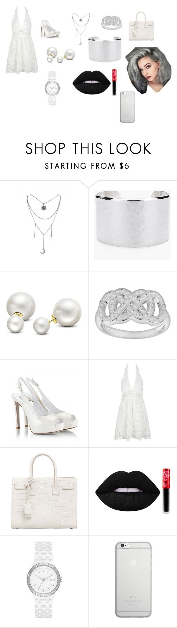 """""""Blanc"""" by jade2001edwards on Polyvore featuring Chico's, Allurez, Fratelli Karida, WithChic, Yves Saint Laurent, Lime Crime, DKNY and Native Union"""