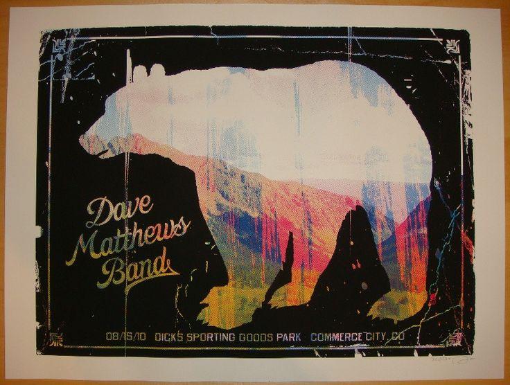 2010 Dave Matthews Band - Denver Concert Poster by Methane