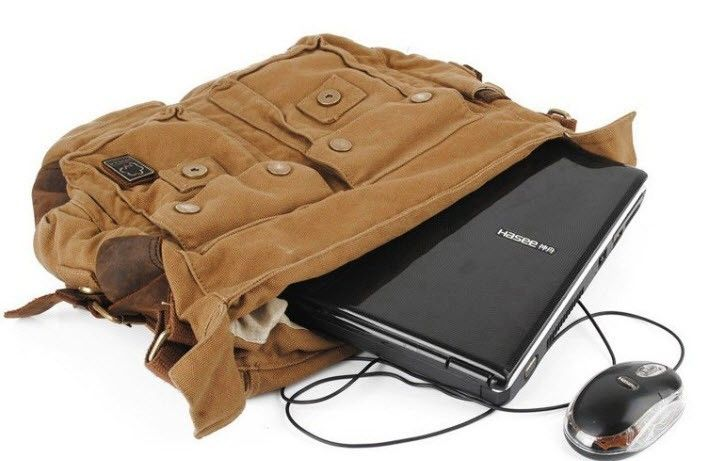 """ModernManBags.com - Men's Trendy """"Colonial"""" Italian Style Messenger Bag with Leather Straps - Khaki Tan, $54.99 (http://www.modernmanbags.com/mens-trendy-colonial-italian-style-messenger-bag-with-leather-straps-1/)"""