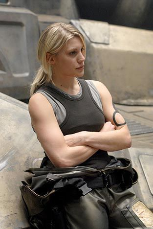 Kara Thrace...number one woman badass on TV EVER..Battlestar Gallactica