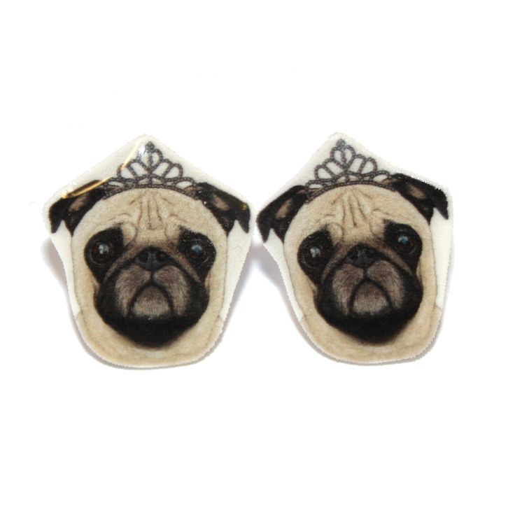 Sour Cherry - Pug Earrings, £8.50 (http://www.sourcherry.co.uk/pug-earrings/)