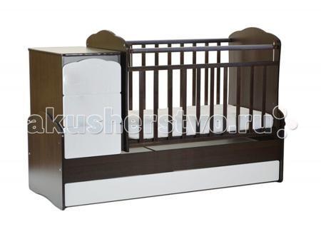 СКВ Компани СКВ-9 Птички маятник поперечный  — 8855р. ----------  Кроватка-трансформер СКВ Компани СКВ-9 Птички маятник поперечный это кровать-трансформер с поперечным маятниковым механизмом. Подходит для детей с рождения до 10 лет кроватка с комодом трансформируется в подростковую кровать. Фасады из крашеной МДФ с забавной фрезеровкой в виде птичек.  Комод можно установить как с правой, так и с левой стороны. Два нижних выдвижных ящика на направляющих. Такая конструкция удобна тем, что не…
