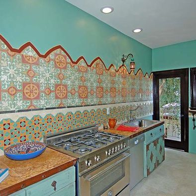 Moroccan kitchen for the home pinterest moroccan for Moroccan kitchen ideas
