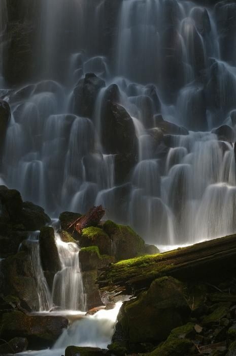 Ramona Falls, Oregon. Wilderness Campsites.