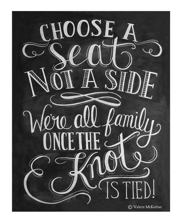 Look at this 'Choose a Seat, Not a Side' Chalkboard Print on #zulily today!
