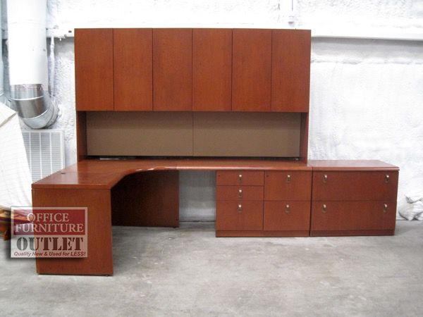 Geiger Corner Desk w/ Hutch - Refinished in Cherry