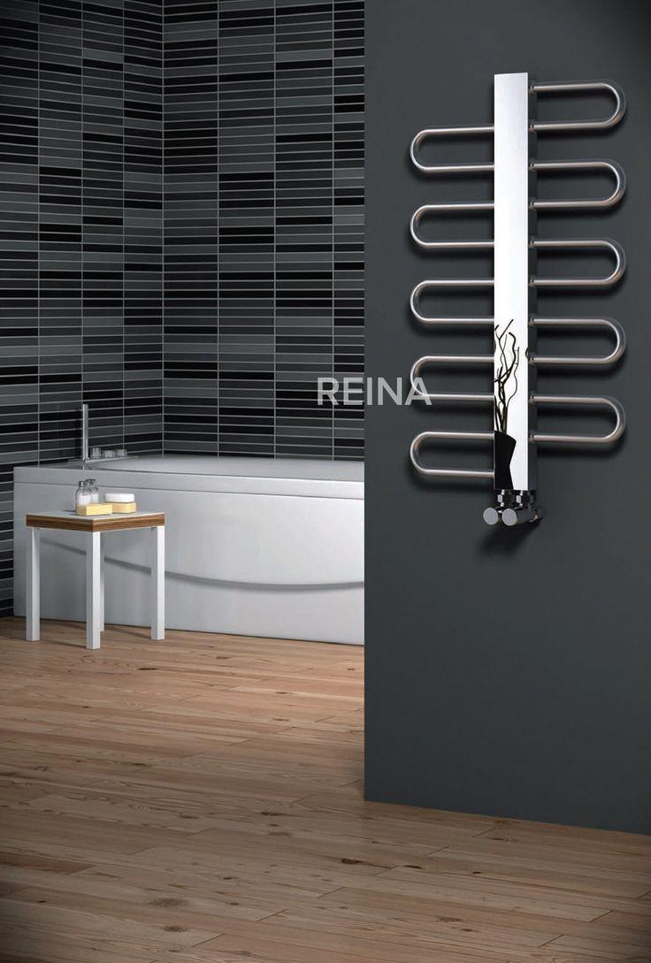 REINA DYNAMIC STAINLESS STEEL HEATED TOWEL RAILS