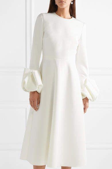 9649b8703e Roksanda Ruffled Crepe Midi Dress - Ivory #Crepe#Ruffled#Roksanda ...