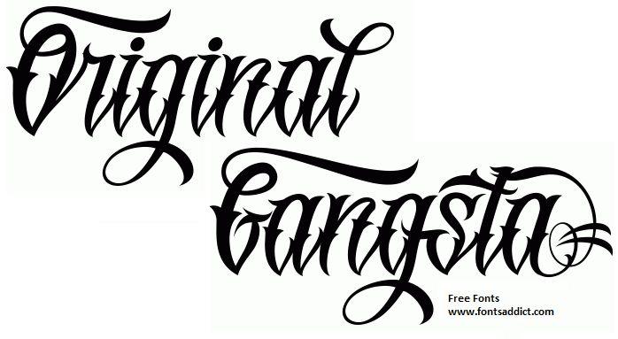Original GangstA Font  Free at fontsaddict.com!    Download link: http://www.fontsaddict.com/font/originalgangsta.html