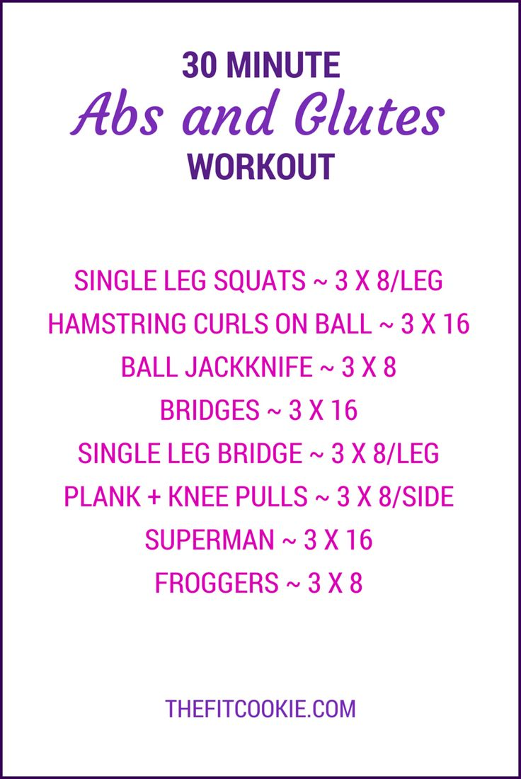 Get in shape and strengthen your core with this 30-minute abs and glutes workout!