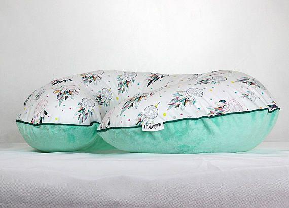 Boppy Cover Custom Boppy Pillow Cover Dreamcatcher Mint