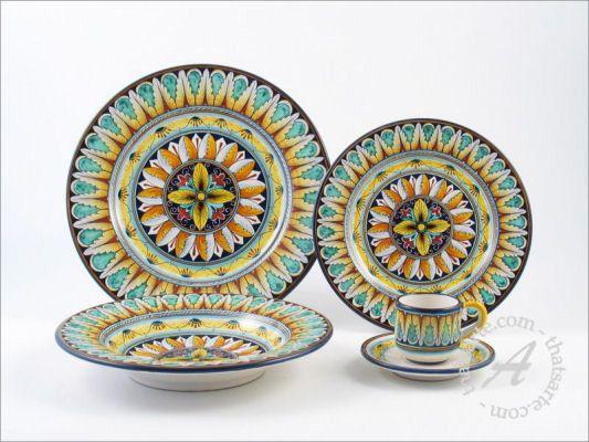 Italian dinnerware set - Vario by Fima (Deruta)