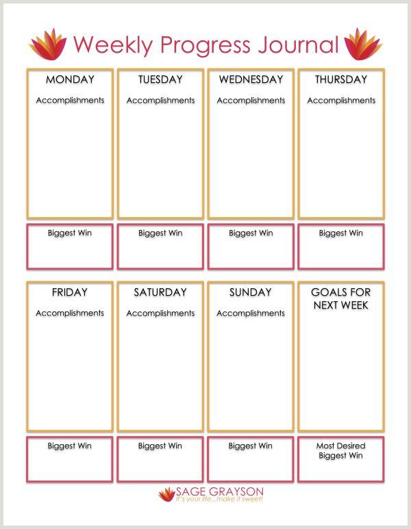 Free Printable Weekly Progress Journal - Sage Grayson Coaching