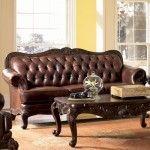$1290.00  Coaster Furniture - Victoria Leather Sofa - C500681