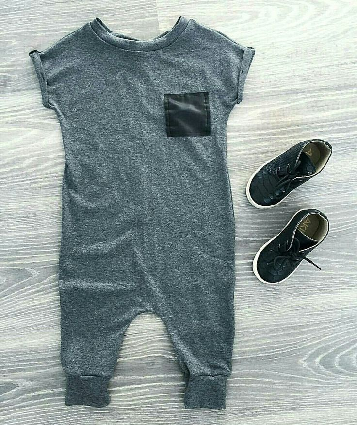 Heather Grey Patch Romper, Hipster Baby Clothes, Kids Fashion, Toddler Boy Clothes, Trendy Baby Clothes, Baby Romper https://presentbaby.com