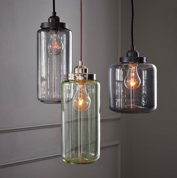 Glazen potten als hanglampen - Buy Nothing New - www.buynothingnew.nl #bnnm14