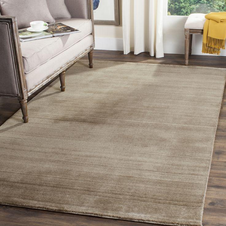 Safavieh Handmade Himalaya Taupe Wool Area Rug (9' x 12') (HIM820B-9), Tan, Size 9' x 12'