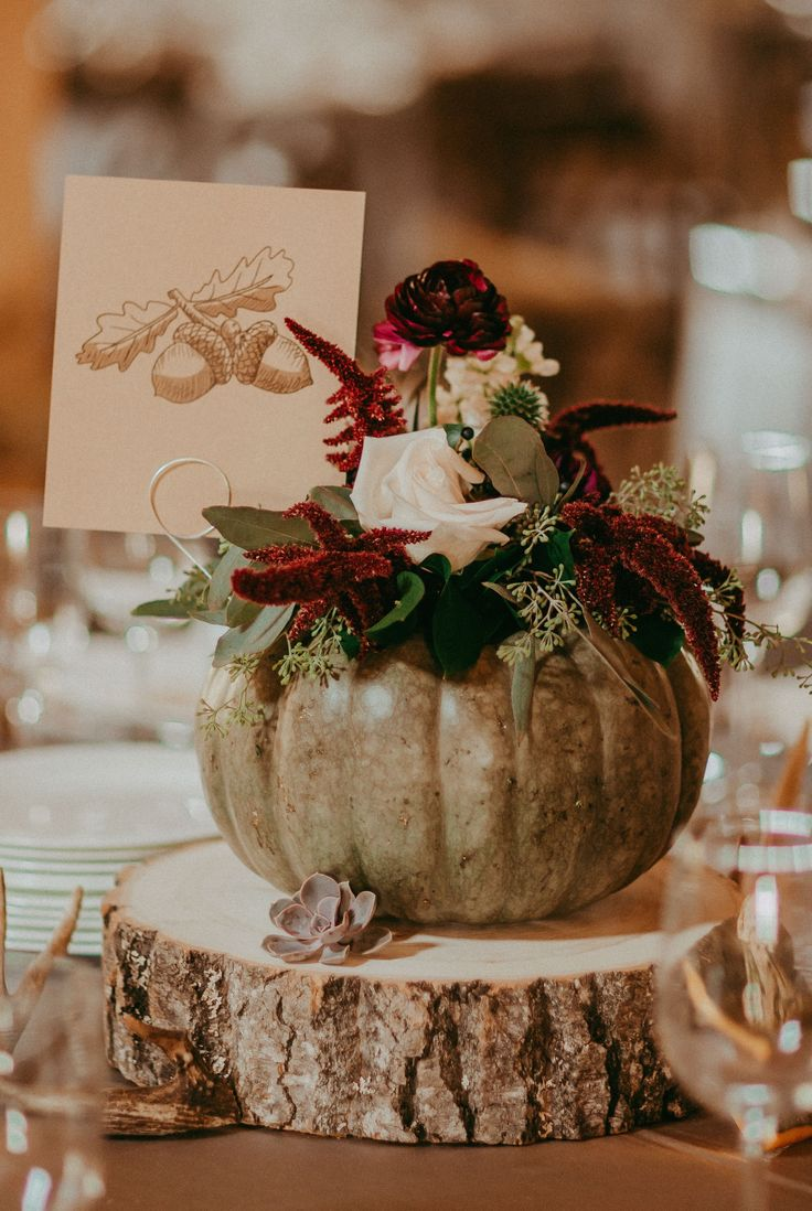 """Wood rounds to add the """"rustic"""" to your centerpiece."""