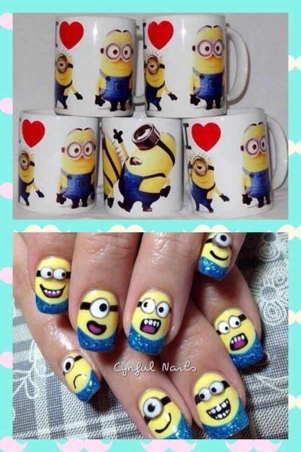 Minions nails - Nail Art