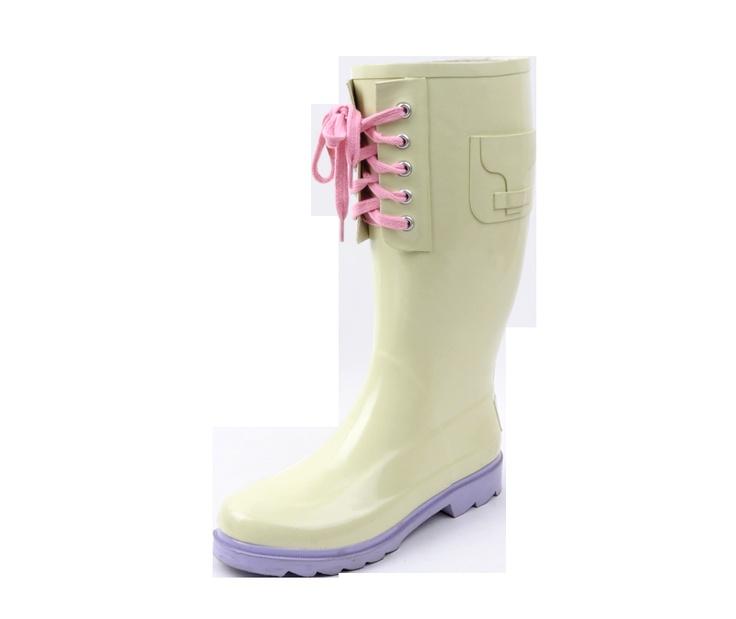 Pretty Rain Boots with Laces.