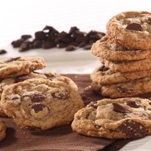 Gluten-free chocolate chip cookies with the right taste, texture, and baking performance.  And, you don't even need to refrigerate dough.  Immediate gratification!
