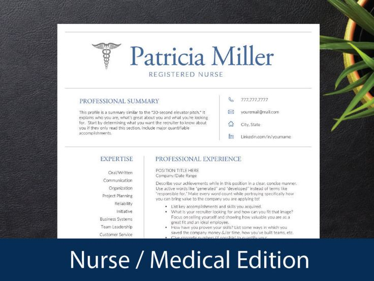 nurse resume template for word a4 letter nursing resume 1 2 3 page resumes included cover ref medical resume instant download - Resume Template Professional