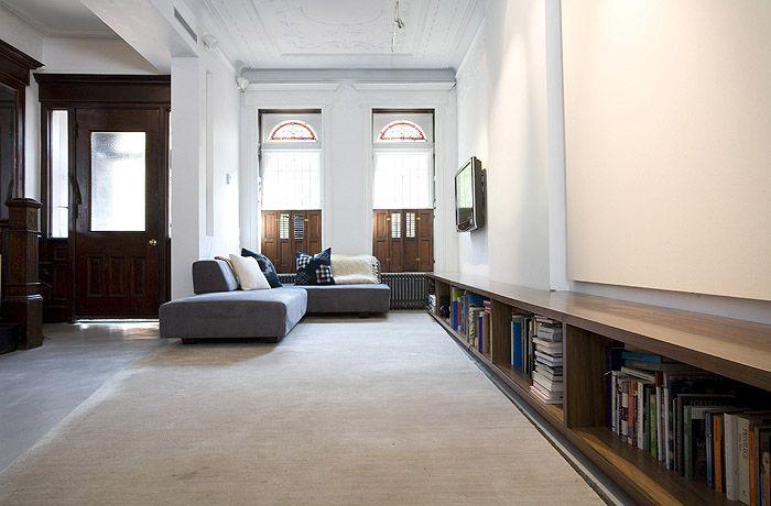 Low bookcase. Elizabeth Roberts: Martin Residence