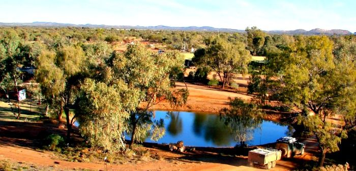Gemtree Caravan Park - child and pet friendly - a true outback experience.  Pop them on your list.
