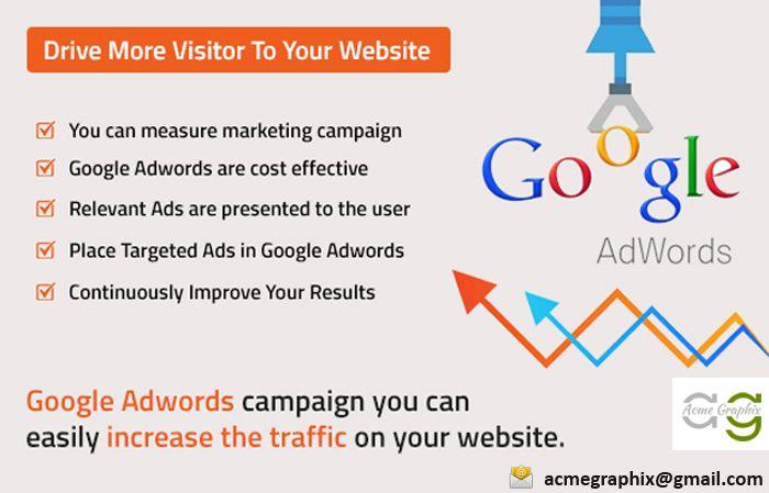 Benefits of Google Adwords http://www.acmegraphix.com/ #GoogleAdwords , #PPC , #WebsiteDesigning , #SEO , #SMO , #Acmegraphix