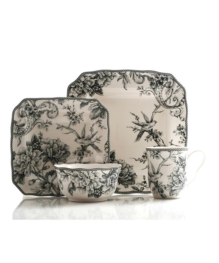 Gray Adelaide 16-Piece Dinnerware Set | Daily deals for moms, babies and kids