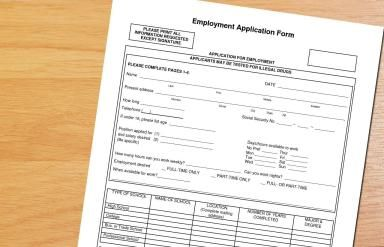 Sample Job Application Form for Retail Positions