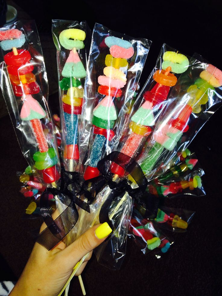 Simple candy kabobs